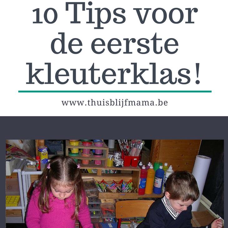 tips voor de eerste kleuterklas