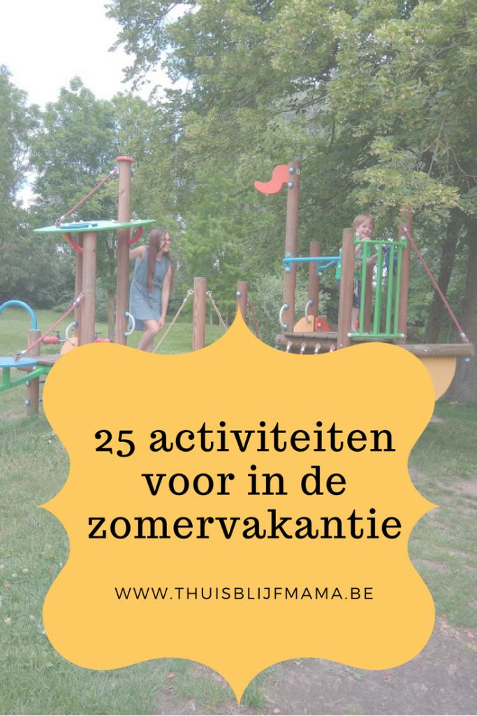 25 activiteiten voor in de zomervakantie